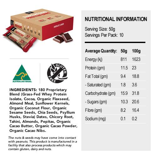 180 Superfood Bar - 10 x 50g Bars (Chocolate)